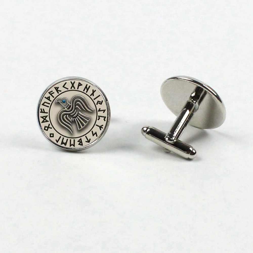 2019/mode scandinave nordique Viking croix amulette boutons de manchette verre soulevé noir manifeste chemise cadeau de mariage boutons de manchette bijoux