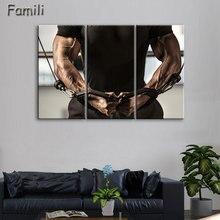 3pcs Superstar Fitness Bodybuilder poster UnFramed Gallery wrap art print home wall font b decor b