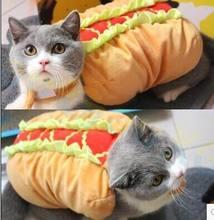 Halloween Party festival Cat Clothes Teddy Puppy Dog hamburger Winter Hot Pet vest decoration