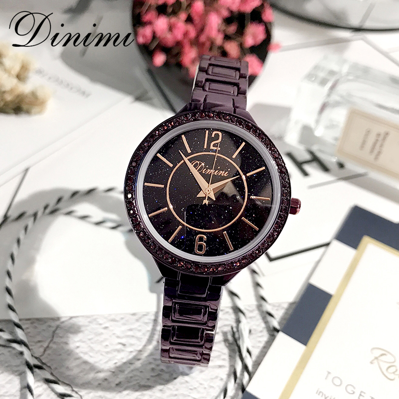 Dimini Fashion Luxury Women Watches Lady Watch Quartz Wrist Watch Diamond Shinning Gold Ladies Watches Dropshipping Gift Present fashion ladies wrist watches luxury brand crystal dress women watch shinning diamond rhinestone ceramic wristwatch quartz watch