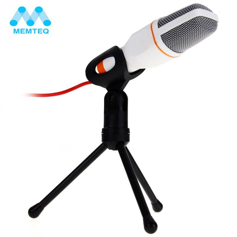MEMTEQ Professionnel Microphone Professionnel Son Podcast Studio Microphones pour ordinateur PC téléphone Ordinateur Portable Skype MSN Karaoke + PC