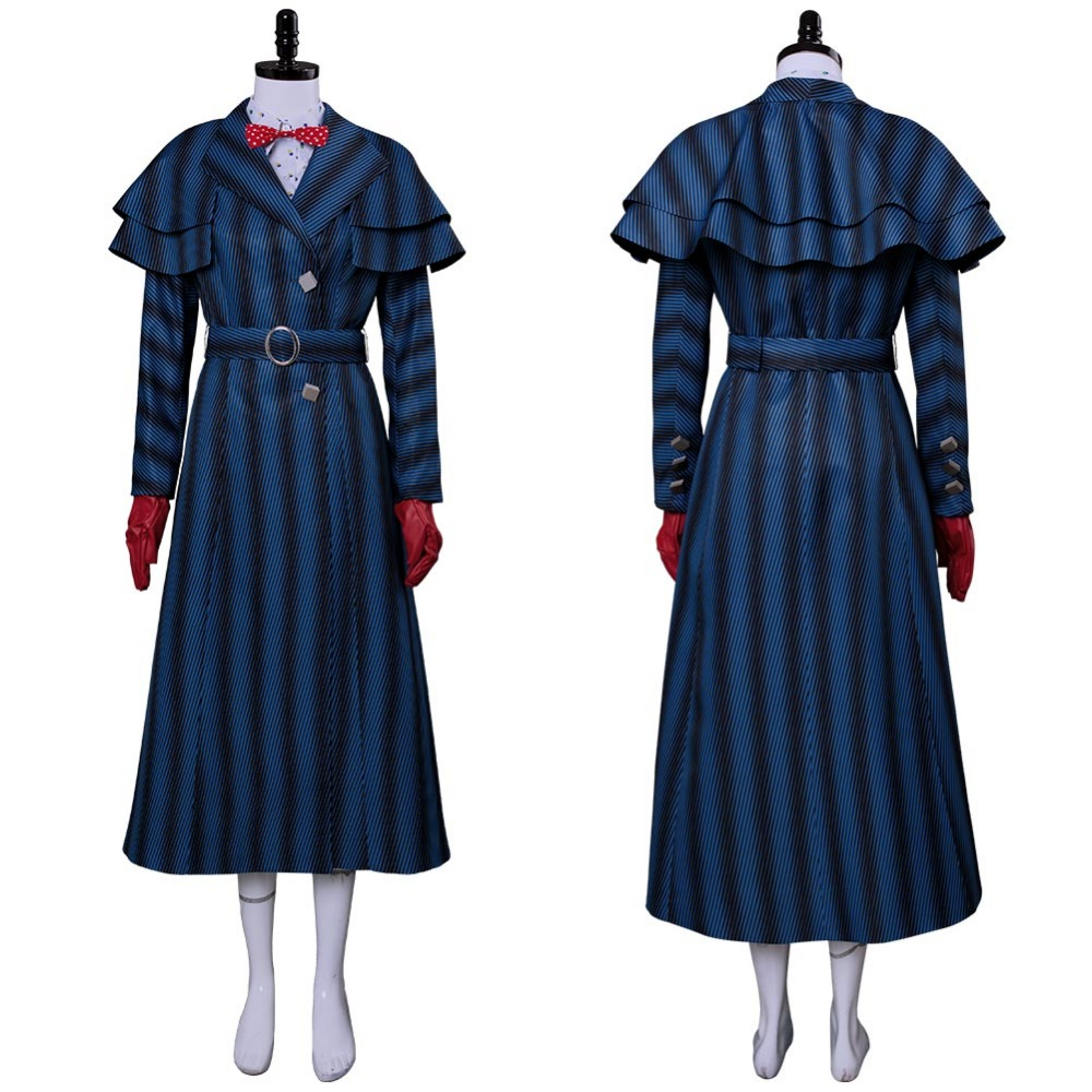 2018 Mary Poppins Returns Cosplay Costume Mary Poppins Costume Robe Robe Pour Adulte Femmes Hommes Halloween Costume Fait Sur Commande