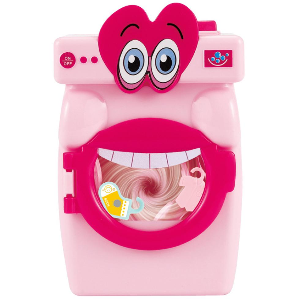 Mini Washing Machine Toy Educational Simulation Big Mouth Washer Play House Toys For Kids Children