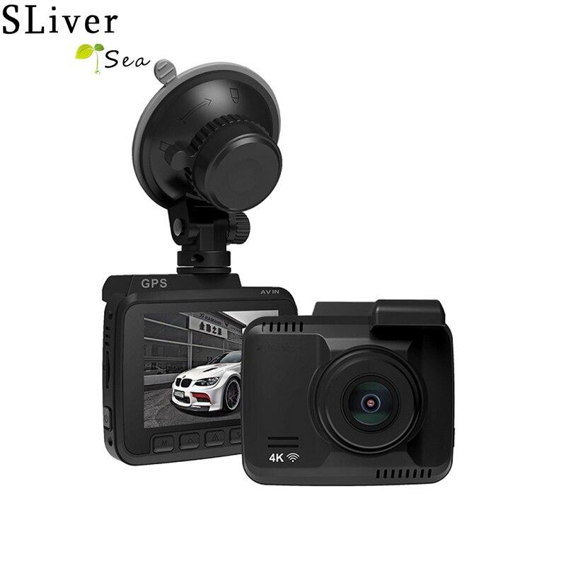 SLIVERYSEA Dual Lens WiFi FHD 1080P Front + VGA Rear Car DVR Recorder 2880 x 2160P Dash Cam Novatek 96660 Camera Built in GPS xycing gs63h wifi car dvr novatek 96660 car camera gps tracker 4k ultra hd 2160p night vision dash cam 150 degree angle lens