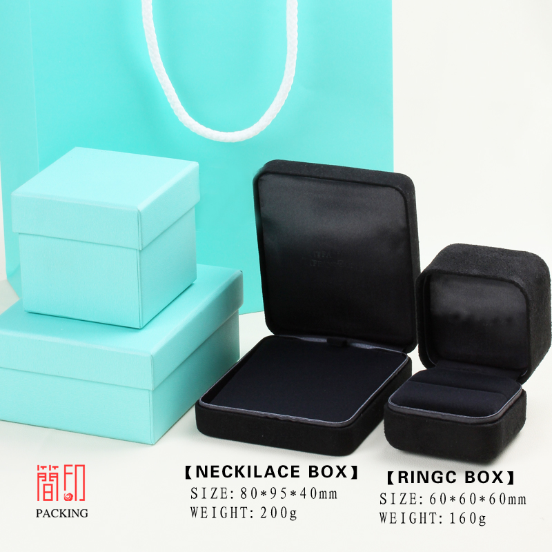 international Brand Ring Box made of Steel material the gift packaging for jewelry packaging display