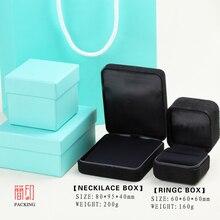 Internacional Marca Anillo Caja de Acero material de la caja de regalo para la joyería packaging & display