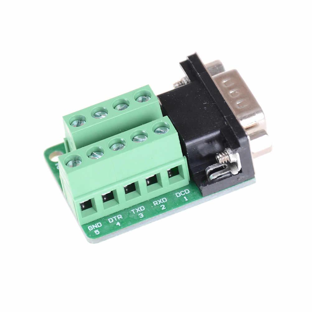 信号インタフェースコンバータオス Com D サブ 9Pin DB9 コネクタ端子モジュール RS232 RS485 アダプタ