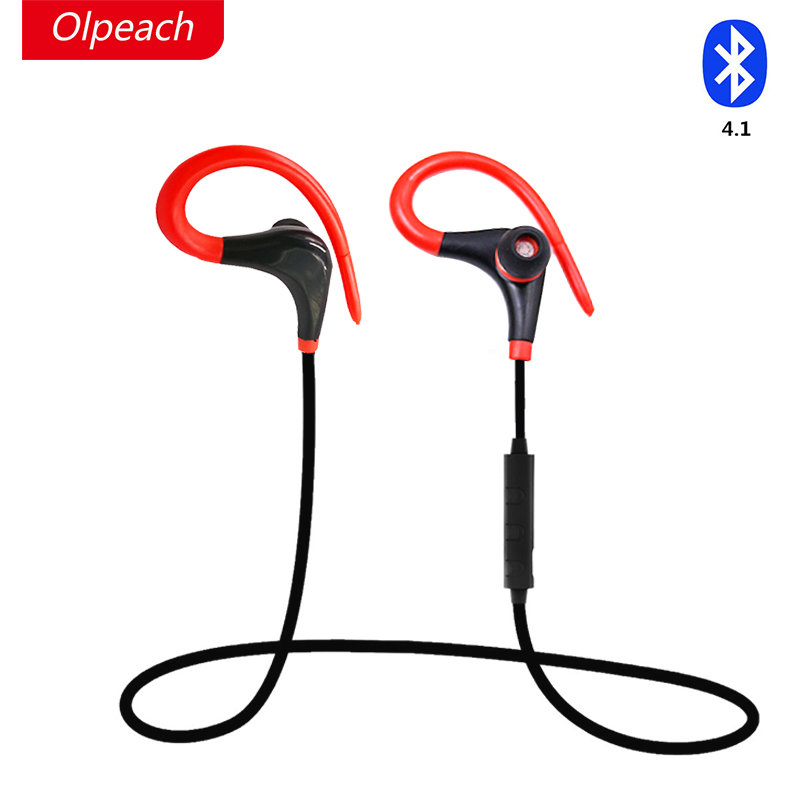 OLPEACH Sport Earphone Bluetooth 4.1 Headset Wireless Headphones Earbuds with Microphone for iPhone 7 Plus xiaomi Mobile Phones