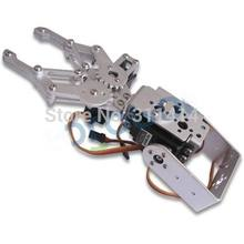 1 Set 2 DOF Aluminum Robot Arm Clamp Claw Mount Kit (No servo) Un-assembly Fit For Arduino Wholesale Retail + Free Shipping