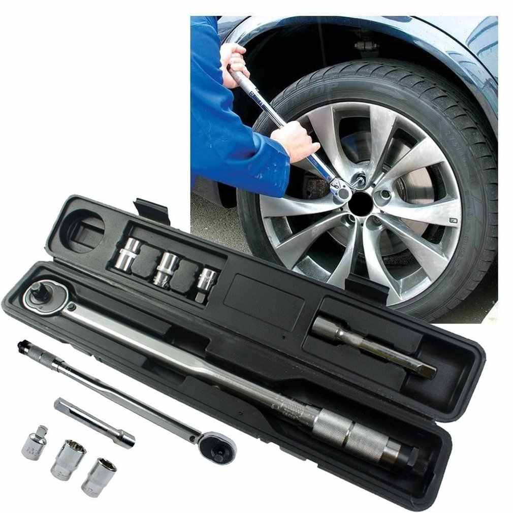 1/2 Inch 28 to 210nm Click Adjustable Torque Wrench Bicycle Repair Five Tools kit Set Bike Repair Tool Spanner Hand Tool Sale