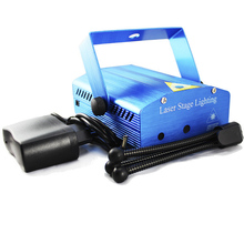 xtf2015 Wholesale Blue Laser Mini Stage Xmas Projector DJ Disco Light Party Lighting Show WTD-BLUE