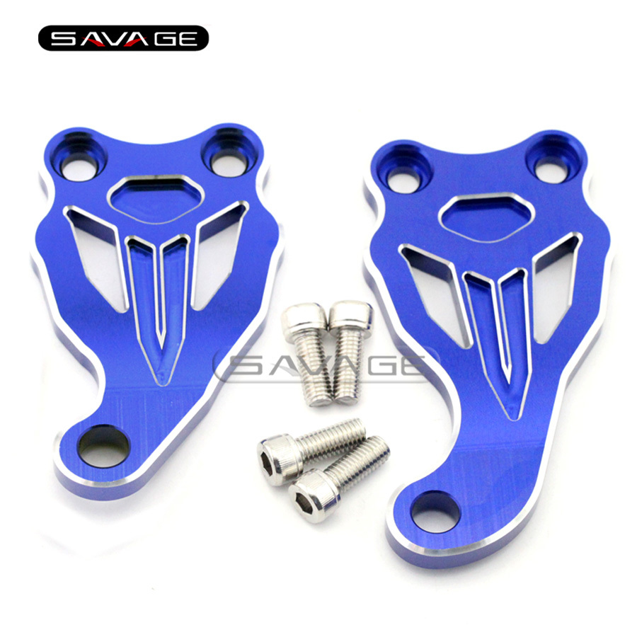 For Yamaha MT07/FZ07 MT-07/FZ-07 2014 2015 2016 Blue Motorcycle Accessories Fixed Frame & Engine Mounting Bracket Slider Cover for yamaha mt 03 2015 2016 mt 25 2015 2016 mobile phone navigation bracket