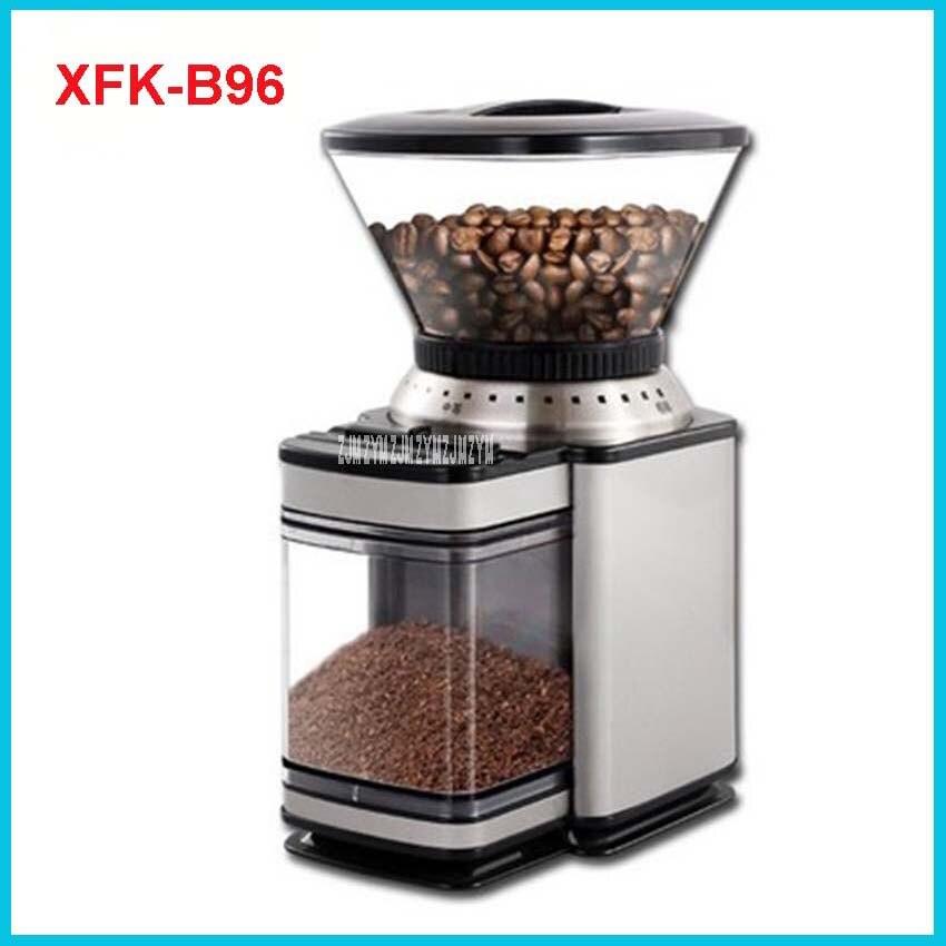 XFK-B96 Professionnel Commercial Ménage Moulin À Café de Haute Qualité Électrique Machine À Café Avancée Broyage 220 V/50Hz 4.7L