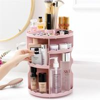 Makeup Organizer Acrylic Adjustable 360 Degree Rotating Cosmetic Storage Holder Storage Box for Cosmetics Makeup