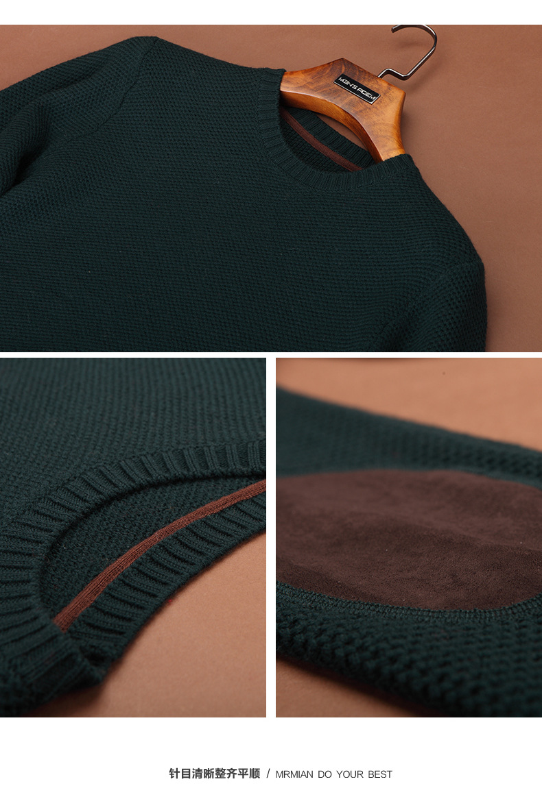 men sweater winter round neck knitted sweaters male casual autumn Cashmere pullovers mens Thick warm jumper plus