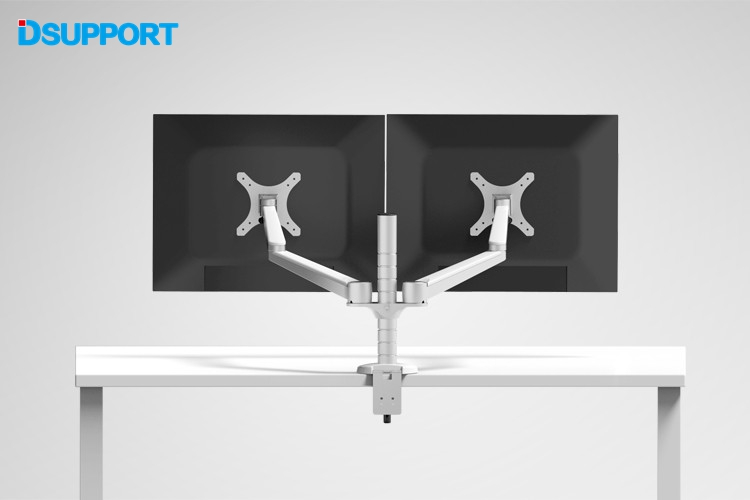 OA-4S Aluminum Alloy Desktop Double Arm Dual Monitor Holder Full Motion LED Screen Mount Arm Rotary Base Stand leshp adjustable double arm 27 inch monitor holder double arm tablet pc stands 360 degree rotatable computer desk free shipping
