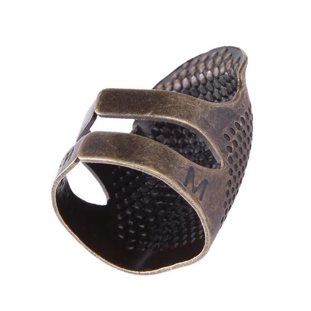 Retro Metal dedo Protector anillo dedal trabajo manual dedal agujas artesanía hogar DIY accesorios de costura