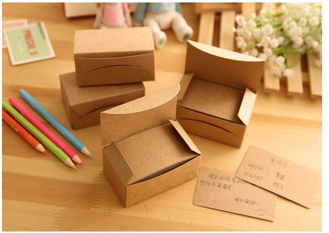 100 Pcs/Lot New Blank Kraft Paper Card Brown Color Mini Message Cards Notepad Memo Pads Label Marker