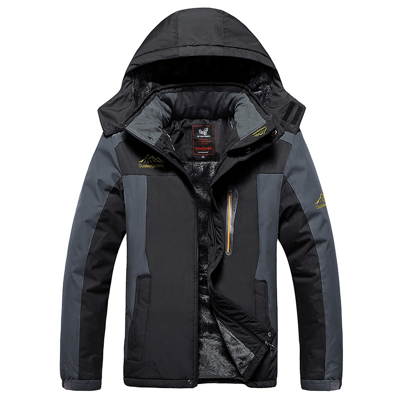 e4ae7fa6d80 9XL Winter jackets pourpoint XL Plus size windproof coat Waterproof Fleece  thickening Big yards Warmth thick coat 7XL 8XL 6XL-in Jackets from Men s  Clothing ...