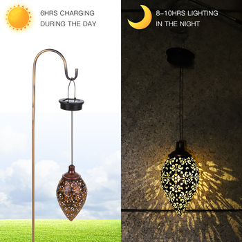 Waterproof Solar Garden Light Solar Powered Lamp Hanging LED Ceiling Light Solar Light Decorative Lighting Lantern Yard Pathway 1