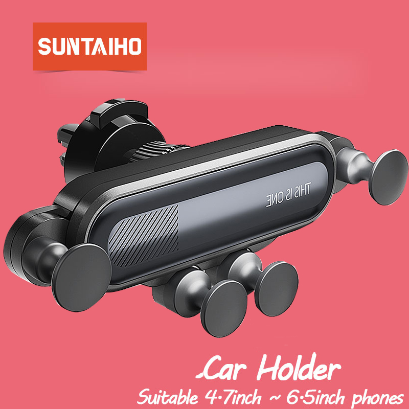Suntaiho Car Phone Holder Air Vent Gravity Holder For IPhone XS Max Gravity Car Phone Holder For Phone Car Airvent Mount Stand