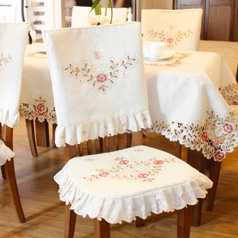 Grade embroidered Top dining table cloth Thick warm chair covers ...