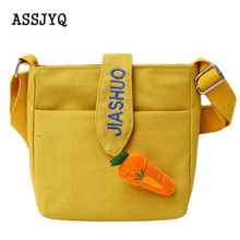 цена на Luxury Handbags Women Bags Messenger Bag  canvas  Shoulder Messenger Bag  Yellow Ladies Phone Purse shoulder Handbag