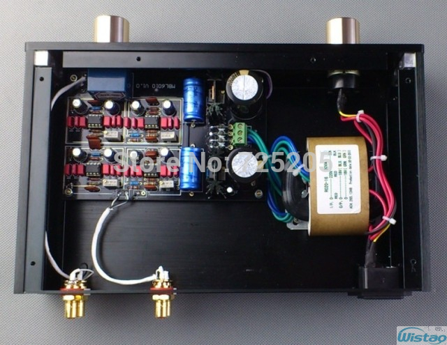HIFI Preamplifier Stereo Adopt AD797 High-end Customized MBL6010 D Black Gold Edition Top-level Audio system Preamp trait d union level 2 cahier de lecture ecriture french edition
