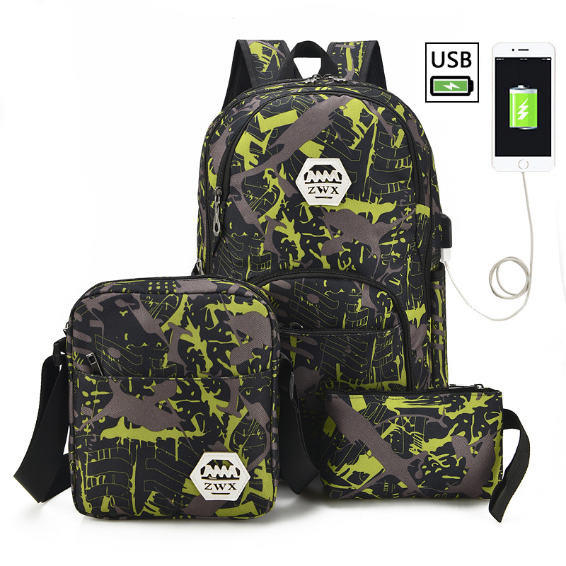 Manager recommended new hot Waterproof Large Capacity Laptop Bag USB Design Backpack Bag Black Backpack women School Bags