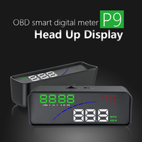 HD Display Car Head Up Computer OBD2 and EUOBD port Speed voltage Alarm system HUD Car Head Up Display for Automobile