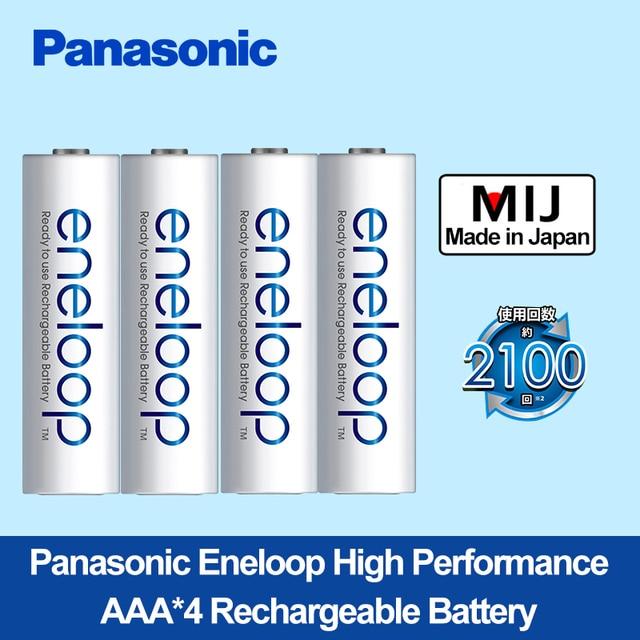 باناسونيك عالية الأداء AAA * 4 صنع في اليابان شحن مجاني ni mh بطارية قابلة للشحن مسبقا Eneloop