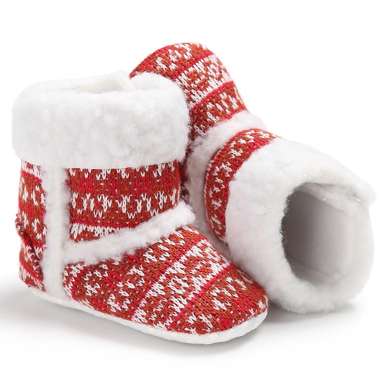 Super Warm Infantil Soft Bottom Winter Baby Shoes Newborn Girl Boys Non Slip Winter Boots Baby Snow Boot Christmas Gifts