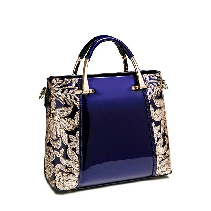 XFE Aristocratic Women Bag Handbags Patent Leather Lady Shoulder Bag Famous Bran