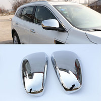 Jameo Auto 2Pcs Car Chrome Rearview Rear View Mirror Protection Cover Stickers For Renault Koleos Samsung