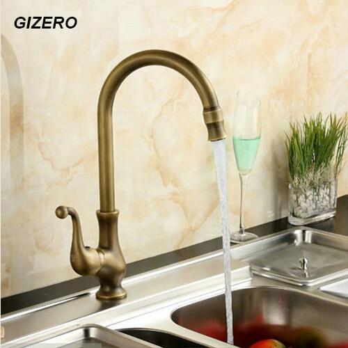 Kitchen Flexible Faucet Antique Retro Swivel Kitchen Faucet Vanity Faucet classic hot cold water tap ZR128