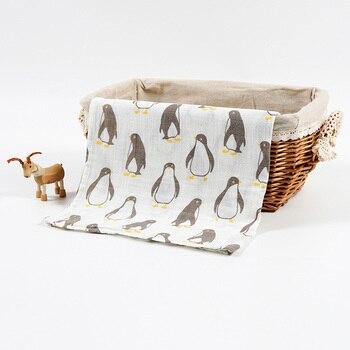 Детское хлопковое муслиновое детское одеяло, многофункциональное муслиновое одеяло для предотвращения загрязнения новорожденных 120*120 см