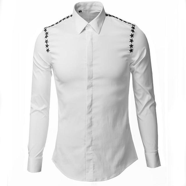 Penta star New Arrival 2016 Shirt Fashion men Long-sleeve Brand high quality 100% cotton Shirts high quality Plus size Camisa