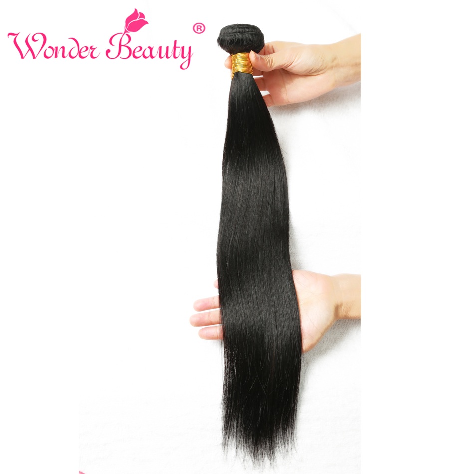 Wonder Beauty Company Peruvian Straight Hair Weaving Natural Black Human Hair Bundles Deal Mixed Length non remy hair Extensions ...