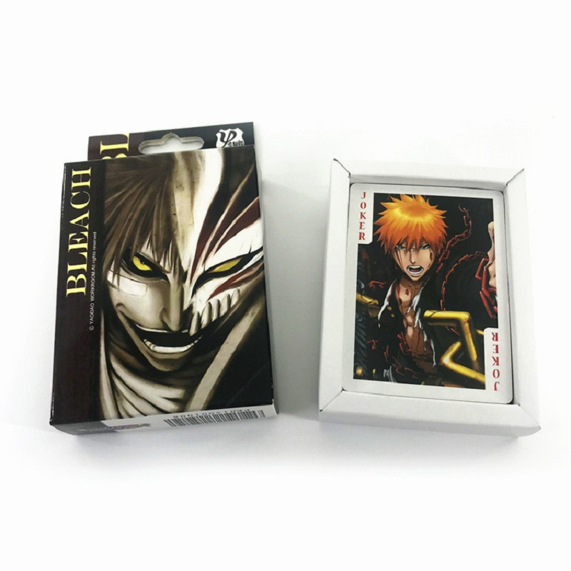 54 Lenzuola/set Anime Bleach Poker Carte Di Gioco Del Fumetto Di Carta Raccolta Cartolina Anime Intorno