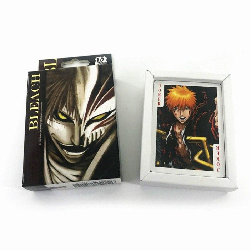 54 Sheets/Set Anime BLEACH Poker Cards Cartoon Game Collection Card Postcard Anime Around