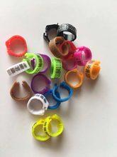 200 pces anel bandas com número 1-100 6 cores 2.7/3/4/4.5/5/8/10/12/14mm snap open clip ring
