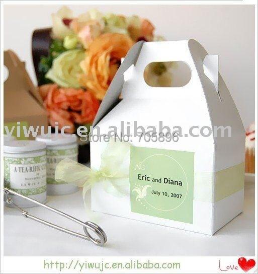 100pcs Wedding Mini Gable Favor Bo Cooke Box Treat Baby Shower Gift