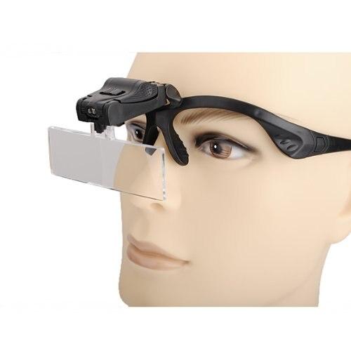 KSOL Magnifier glasses 2 Led 1 X 1.5 X 2 X 2.5 X 3.5 X jeweler watchmaker DIY bingo 2 x diy 28373