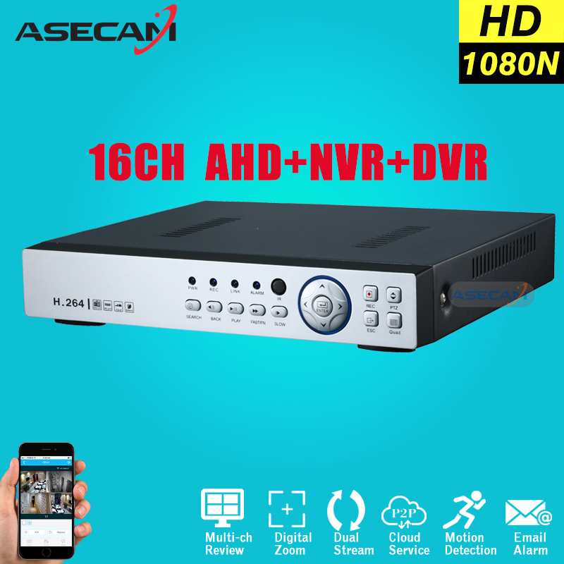New 16CH 1080N AHD DVR For Security Camera 16 Channel Onvif 1080P IP NVR Network CCTV H.264 Video Recorder Surveillance P2P 16 ch 1080n cctv dvr recorder h 264 hdmi network digital video recorder suit anolg ahd cctv camera for home security system