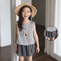 Baby Girl Loose Casual Shorts Dark Grey For Summer Children Beach Style Culotte for Girl Kid Fashion  Divided Skirt 3T to 8T