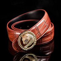 Leopard Designers Luxury Cowhide Brand Genuine Leather Pin Buckle Belts For Mens High Quality Women Cowskin