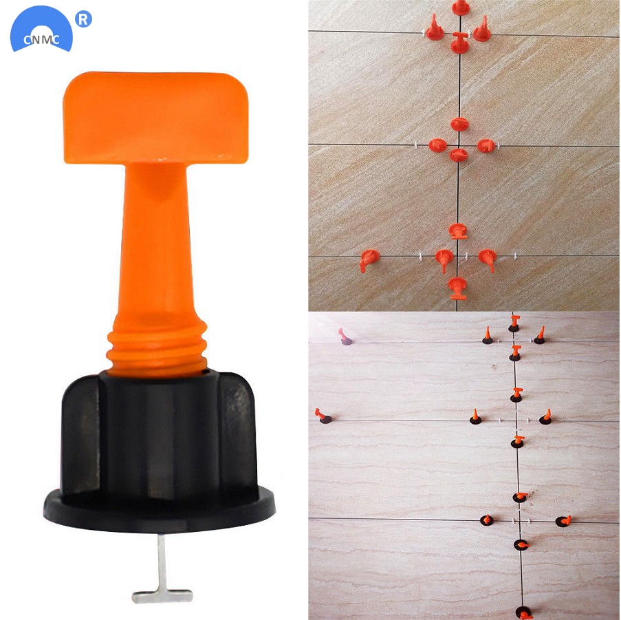 50Pcs Tile Alignment  System Carrelage Clip Adjustable Locator Spacers Plier Level Wedges Hand Tools