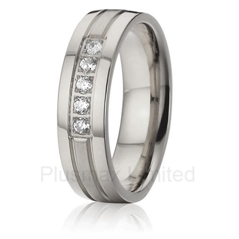 2016 anel feminino titane pur brossé et polissage personnalisé femmes bande de mariage bijoux titane pur bagues