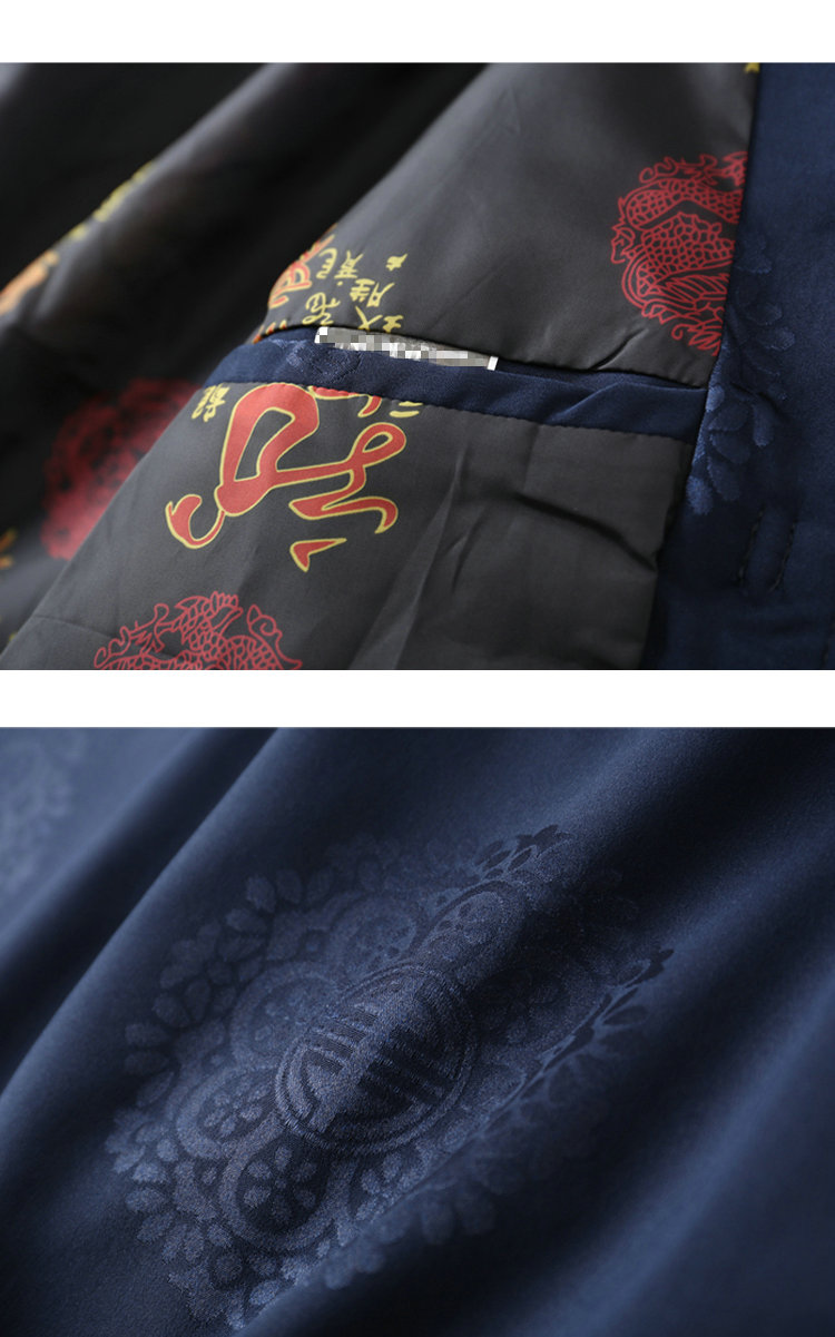 WAEOLSA Chinese Style Men Mandarin Collar Jacket Suits Man Ethnic Tangzhuang Coats Traditional Mao Suit Jackets Red Blue Oufits Plus Size (1)