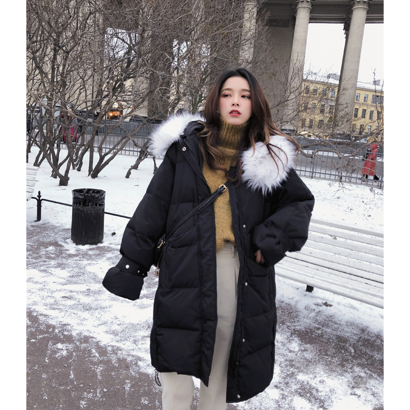Mishow 2018 Winter women mid-long   Down     Coats   Causual Warm thicken Loose   down     coat   MX18D8848